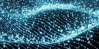 Digital,binary,code,on,landscape,,glowing,neon,style,,binary,data